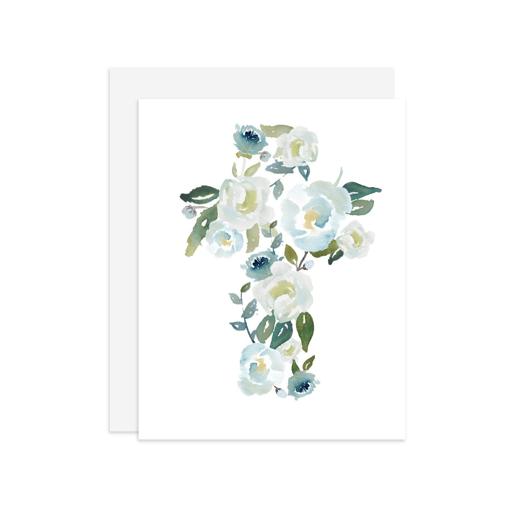 Floral Cross - A2 note card