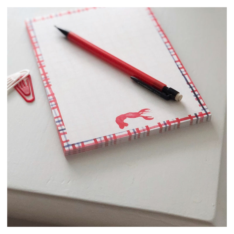 Crawfish 5x7 Notepad