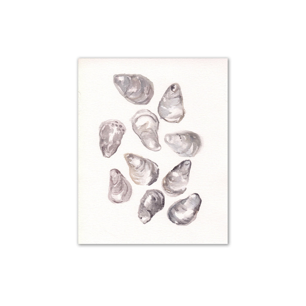 Oyster Shells Print