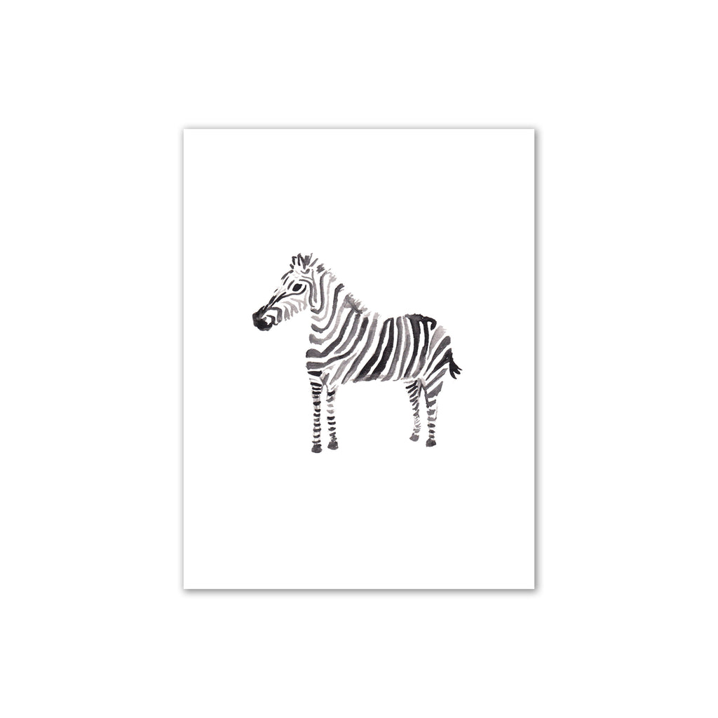 Zebra Watercolor Print 8x10