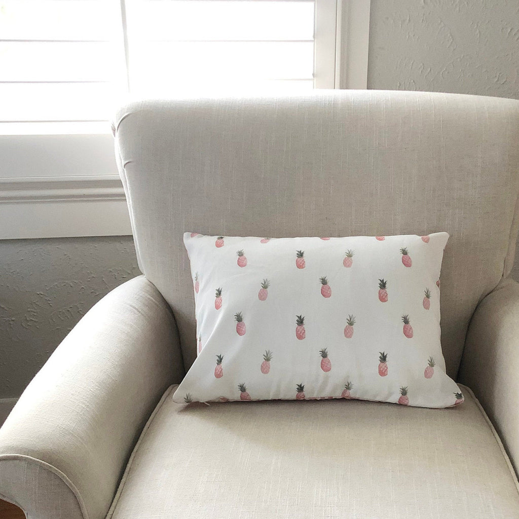 "Pink Pineapple Pillow 14""x20"""