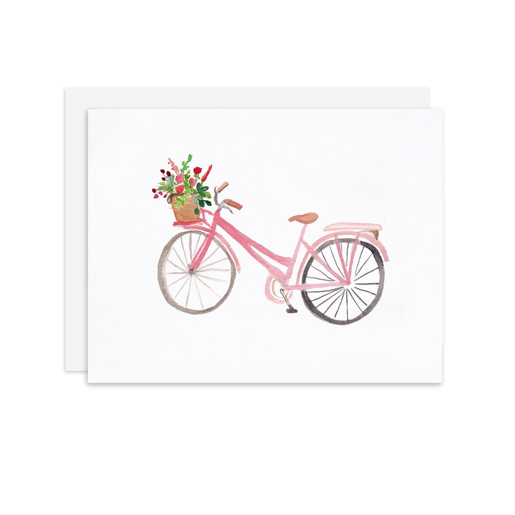 Pink Bike - A2 note card