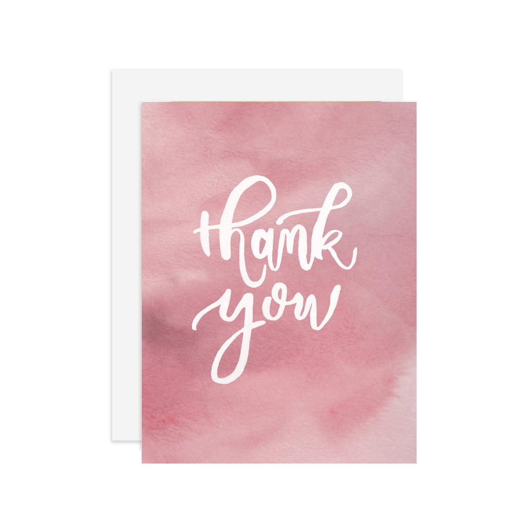 Thank You - A2 note card