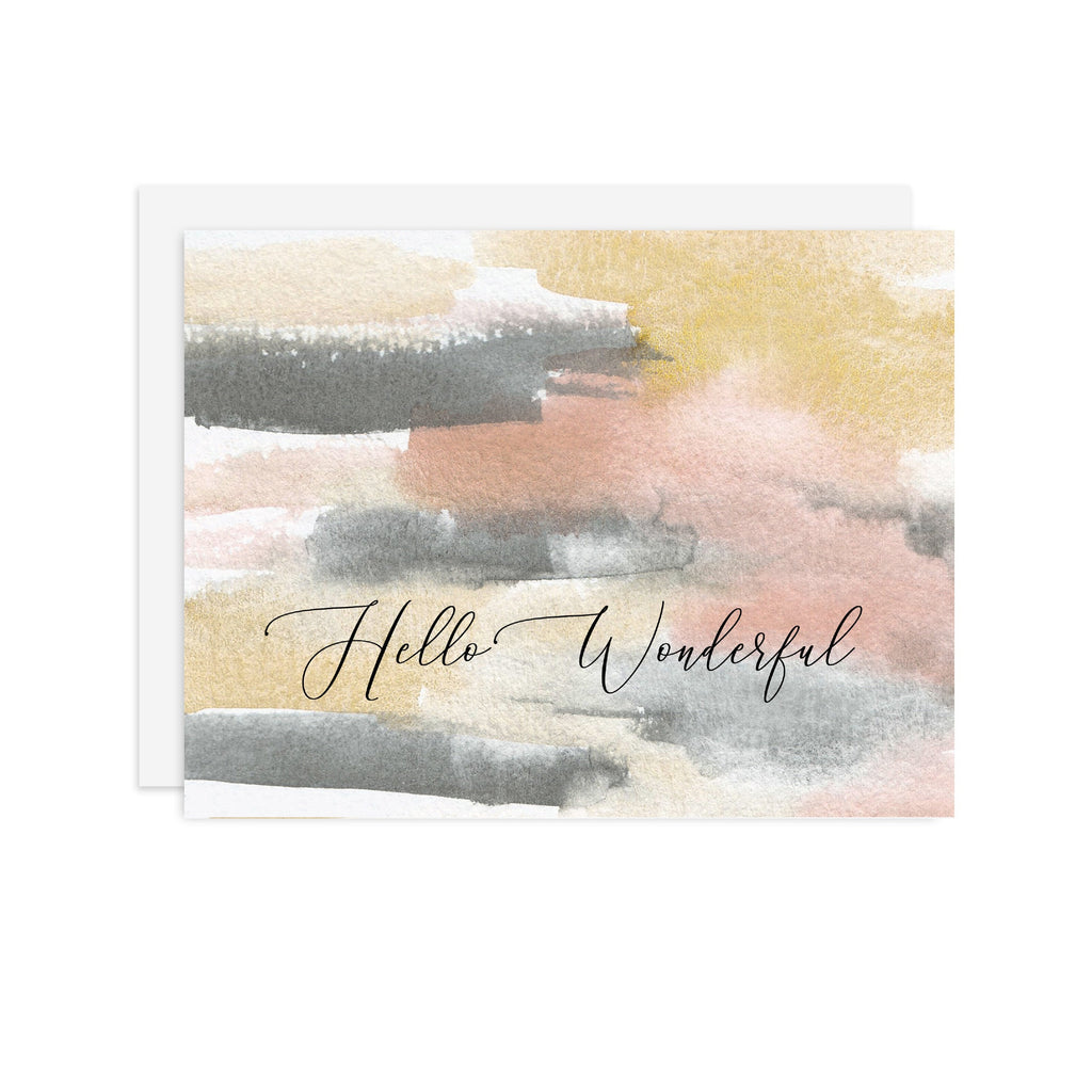 Hello Wonderful - A2 note card