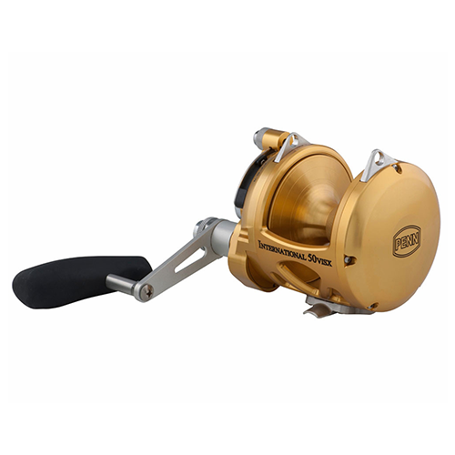 Penn INT50VISX International Lever Drag Conventional 2-Speed Reel 50 sz
