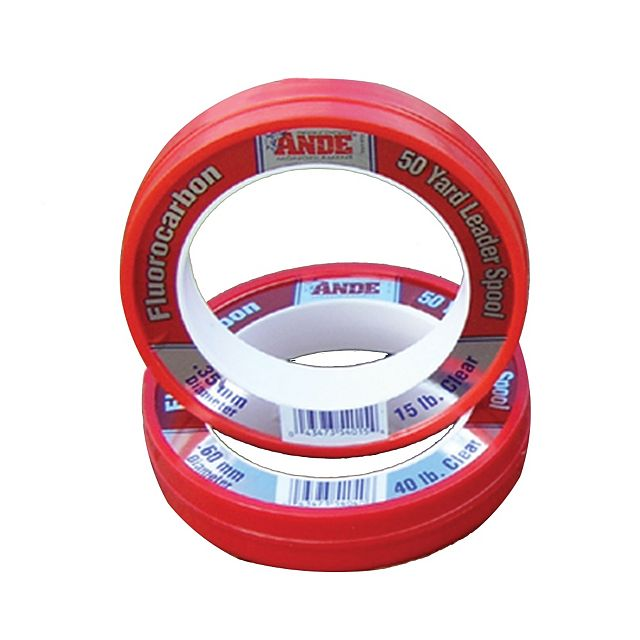 Ande Fluorocarbon 50 yard Leader Spools - Clear
