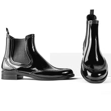 Load image into Gallery viewer, BOAH Glossy Chelsea Wellies - Black