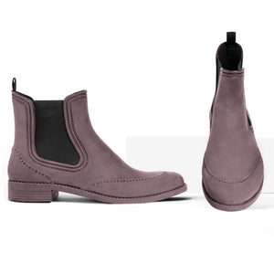 BOAH Suede Chelsea Wellies - Brown