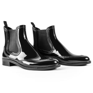 BOAH Glossy Chelsea Wellies - Black