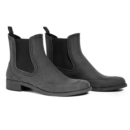 BOAH Suede Chelsea Wellies - Black