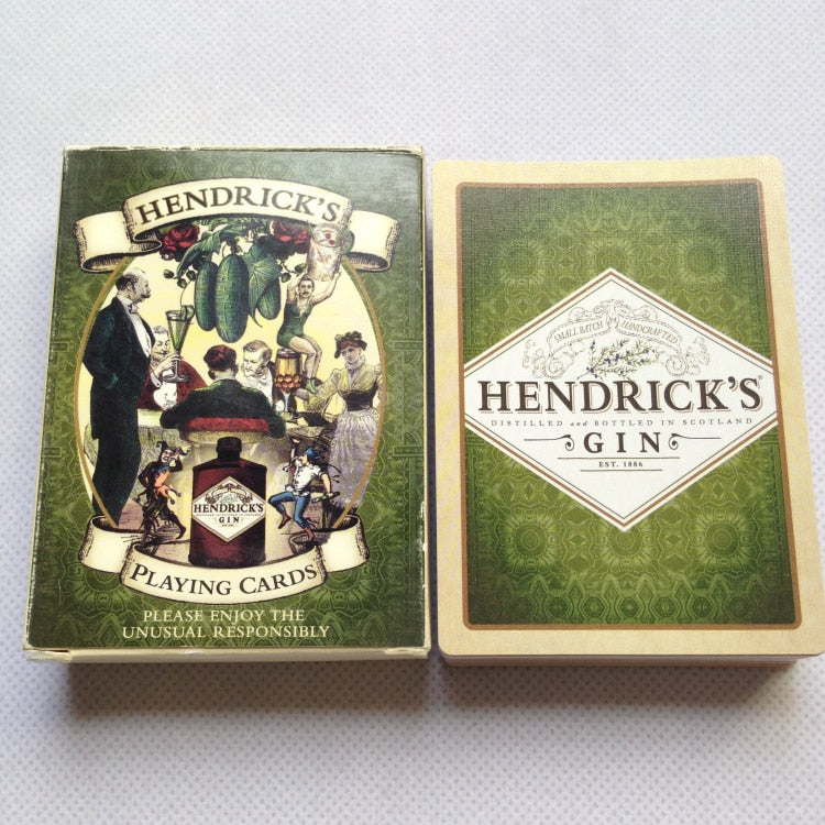 Classical Liene Finish Playing Cards HENDRICK'S GIN Poker Cards Black Core Paper Cards Entertainment Drinking Game Poker