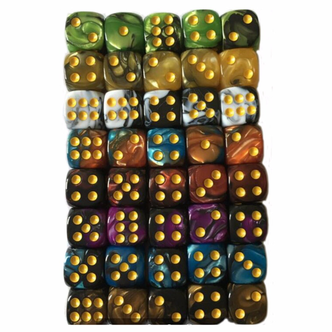 10PCS/SET 12mm 6 Sided Drinking Dices Multi-color Acrylic Spot Dice Table Game Party Bar Entertainment 9 Color Choose