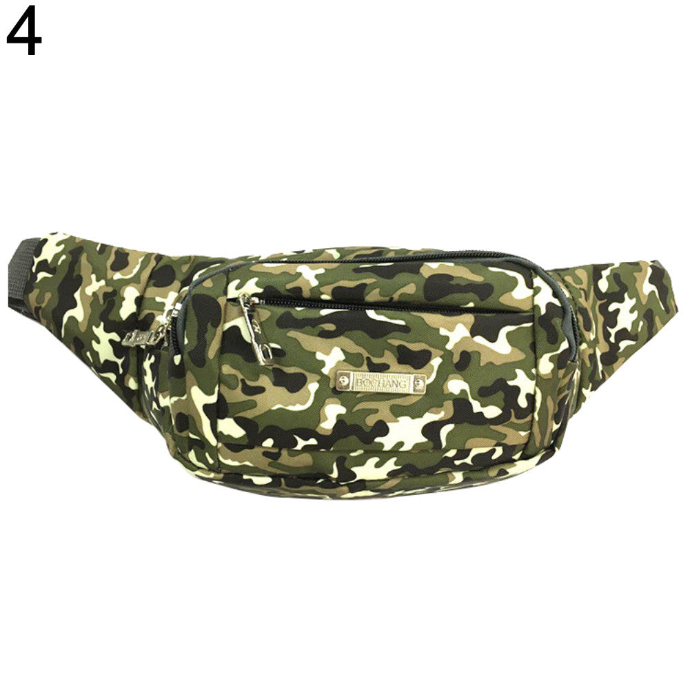 Fashion Women Multifunctional Sports Camouflage Waist Bag Wallet Belt Chest Pack