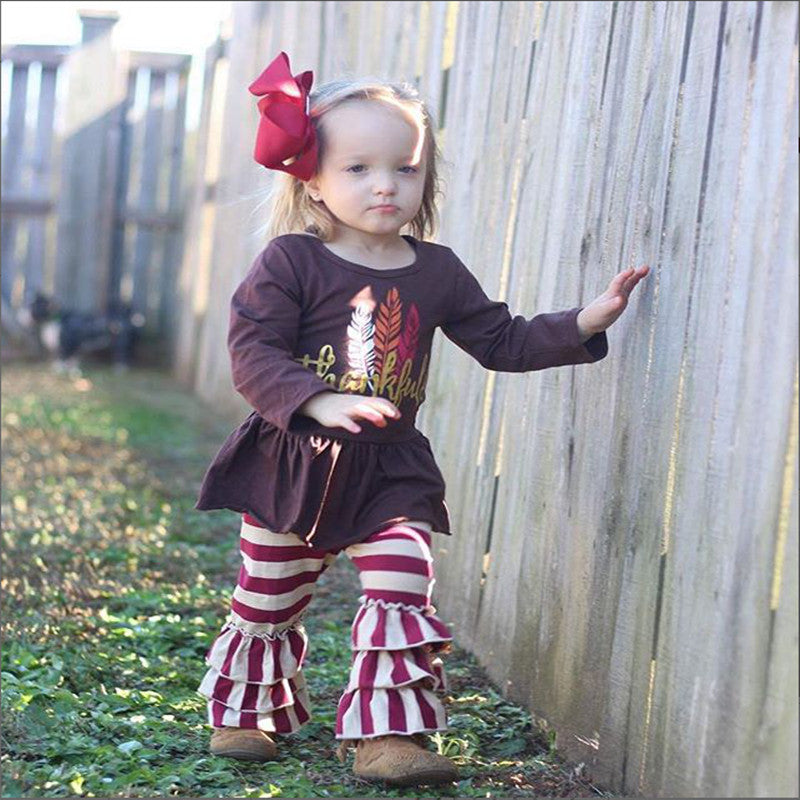 Girls Christmas Clothes Winter Long Sleeve Suits