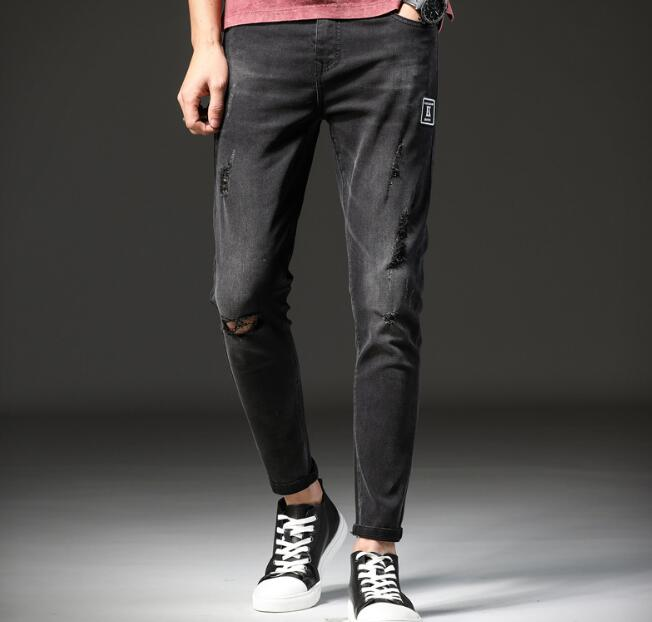 Popular 2018 Spring New Arrival Straight Direct Men Jeans Causal Ankle Length