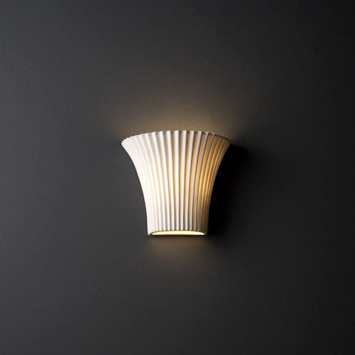 Small Round Flared Wall Sconce with Translucent Porcelain shade
