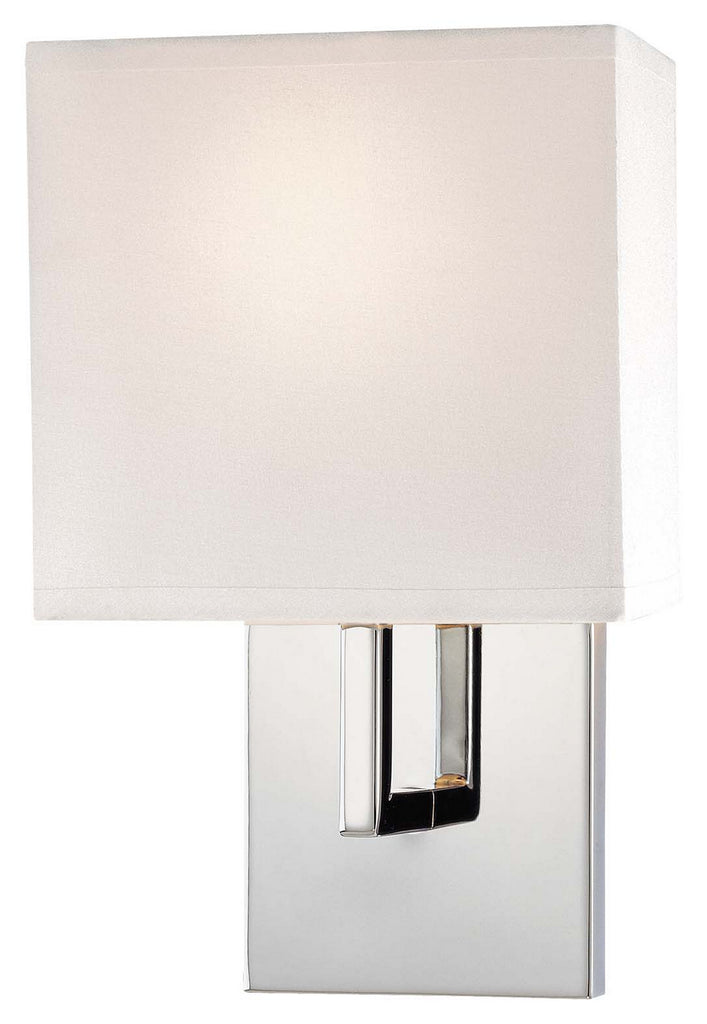 1 Light Wall Sconce in Chrome with White