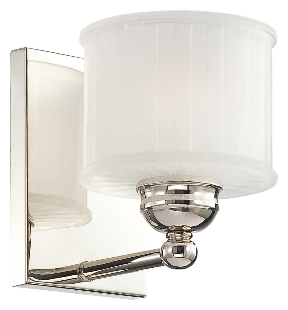1730 Series 1-Light Bath Vanity in Polished Nickel & Etched Glass