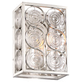 Culture Chic 2-Light Wall Sconce in Catalina Silver & Clear Glass