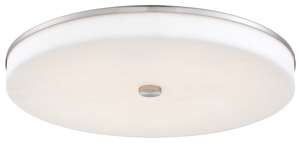 U.H.O. LED Wall Sconce/ Flush Mount in Brushed Nickel with White