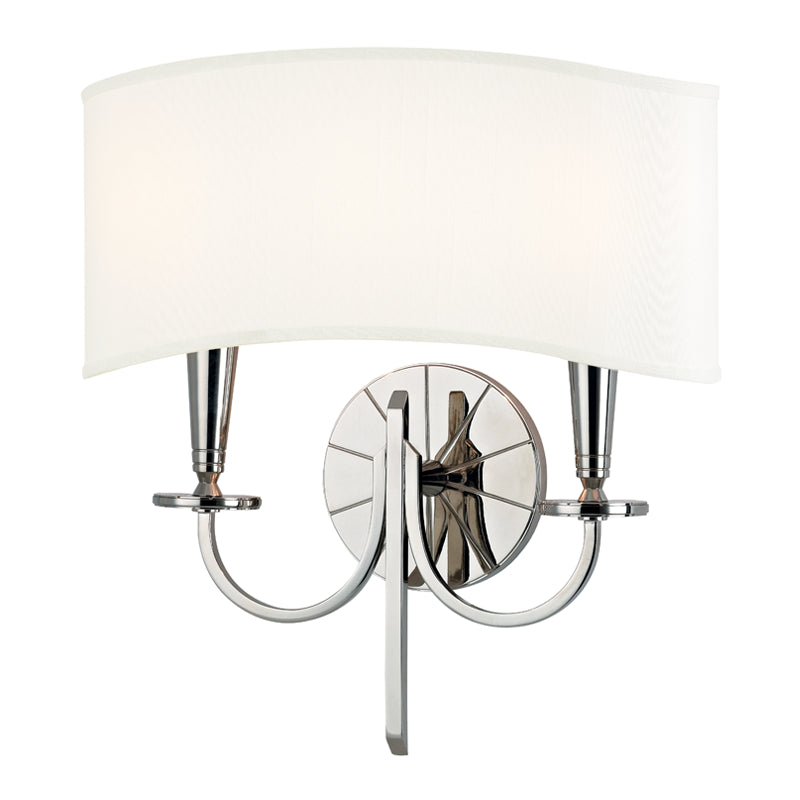 Mason 2 Light Wall Sconce in Polished Nickel