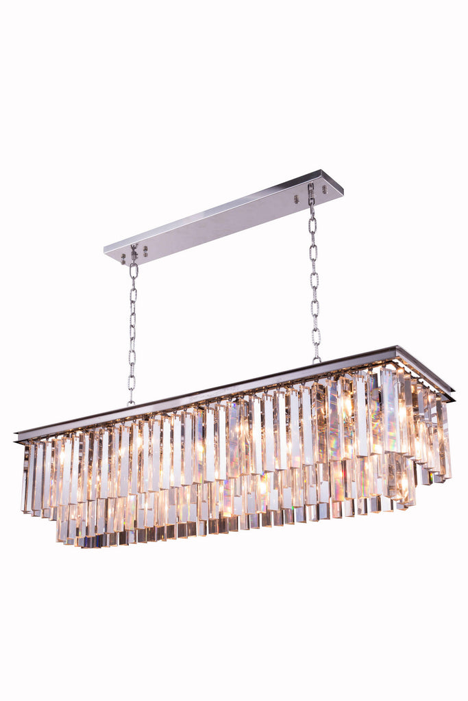 Sydney 12-Light Chandelier in Polished Nickel with Clear Royal Cut Crystal