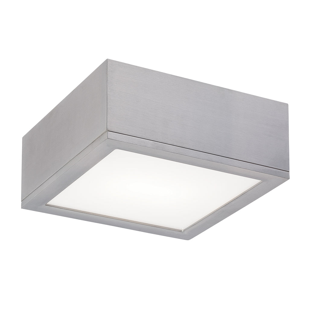 Rubix LED Flush Mount In Brushed Aluminum