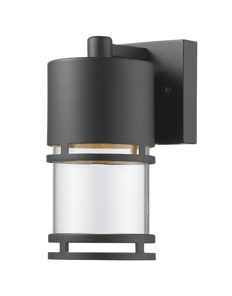 Luminata 1 Light Outdoor Wall Light in Oil Rubbed Bronze with Clear Glass