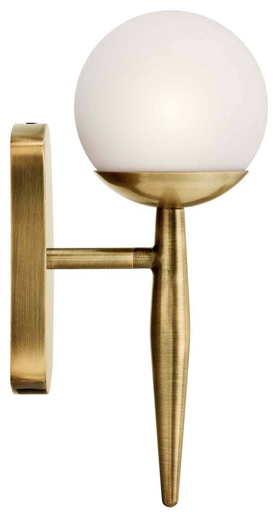 Jasper Wall Sconce 1-Light Halogen in Natural Brass