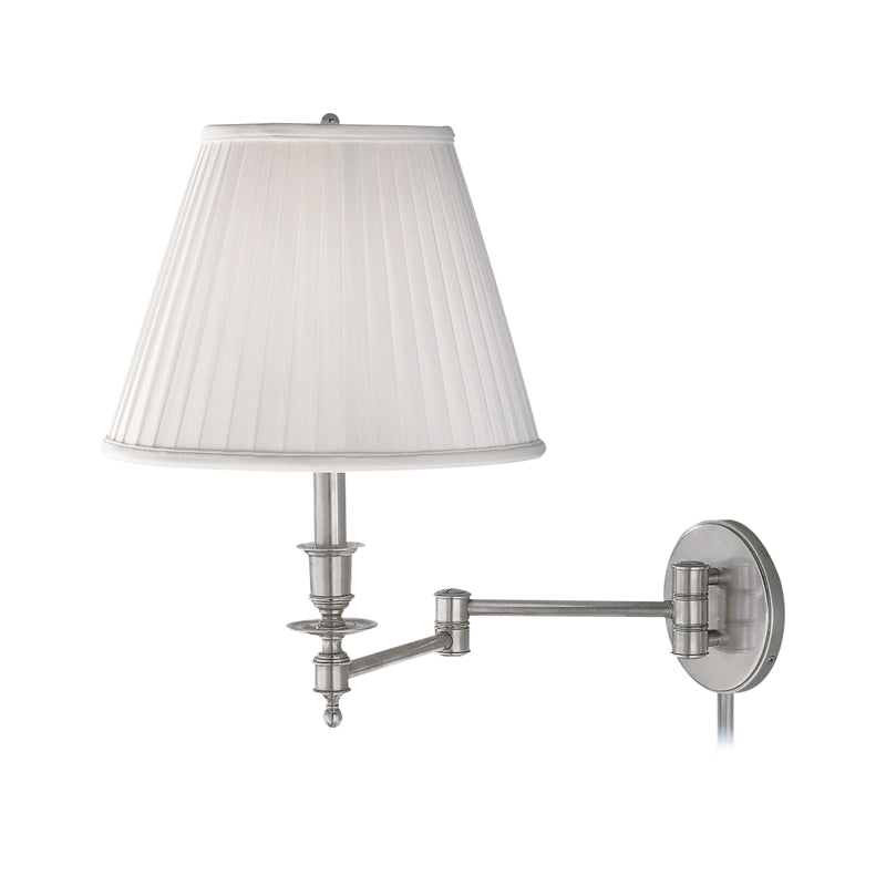 Ludlow 1 Light Wall Sconce With Plug in Satin Nickel