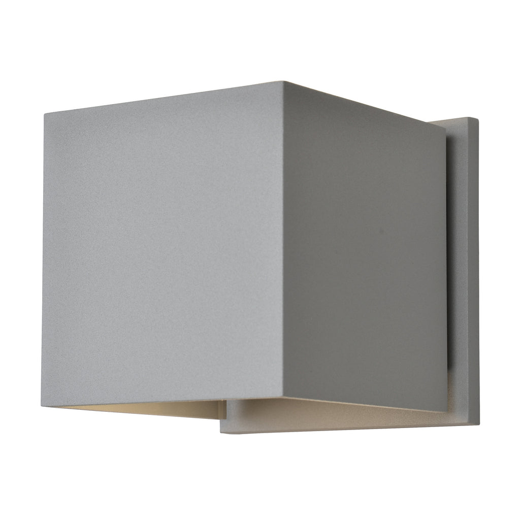 Square Marine Grade Adjustable Wet Location LED Wallwasher in Satin Finish