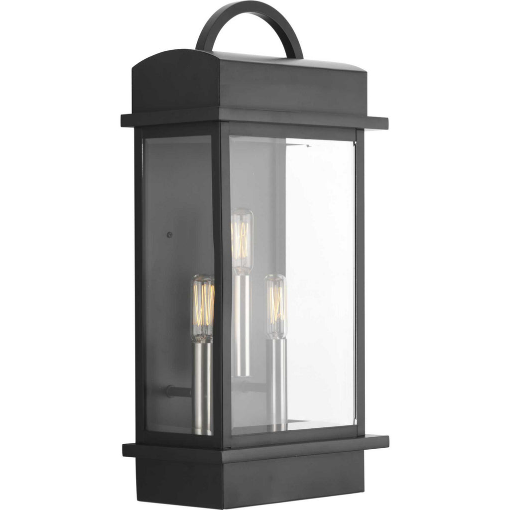 Santee 3-Light Large Wall-Lantern in Black