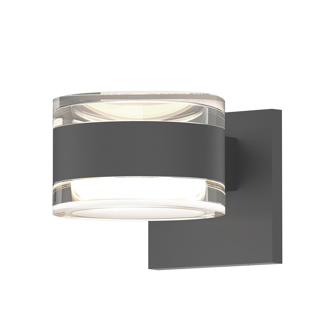 Reals Up/Down LED Sconce in Textured Gray