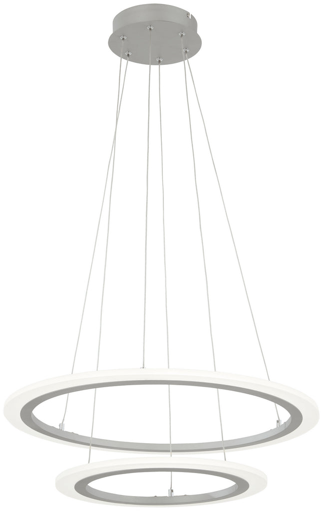 Discovery LED Pendant in Silver with Frosted