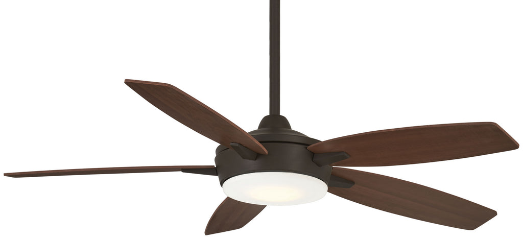 Espace - LED 52 Inch Ceiling Fan in Oil Rubbed Bronze & Medium Maple with Etched Opal Glass
