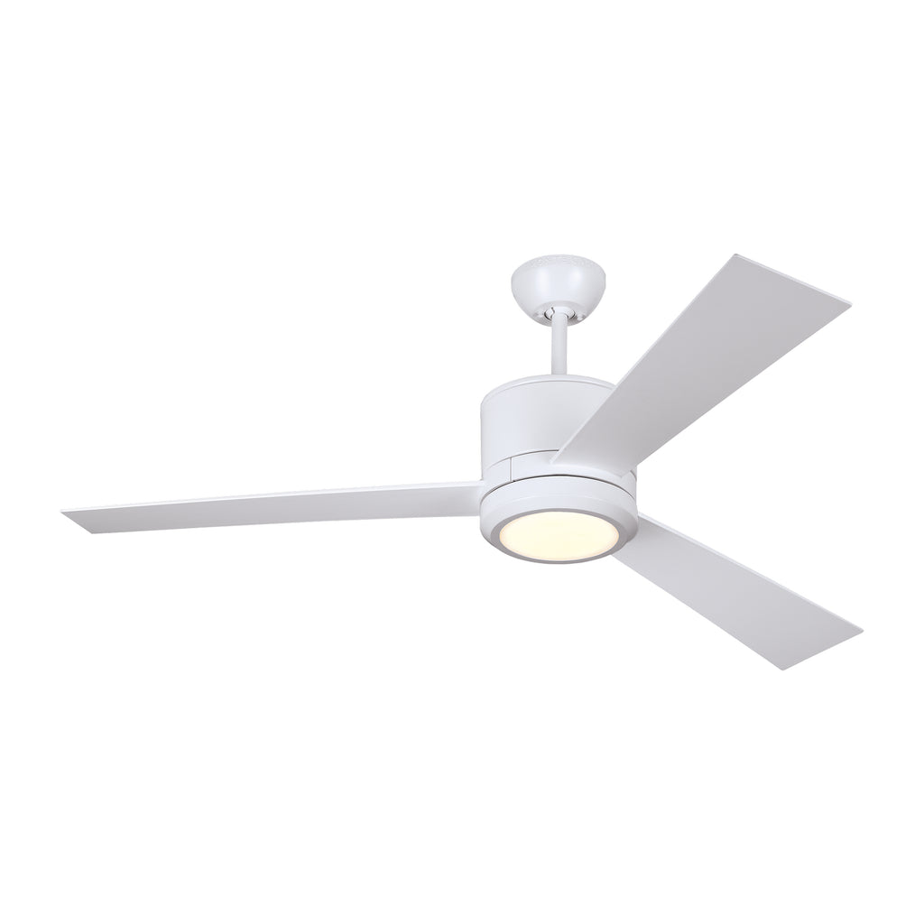 Vision Ceiling Fan in Matte White with Matte White / Matte White Blade