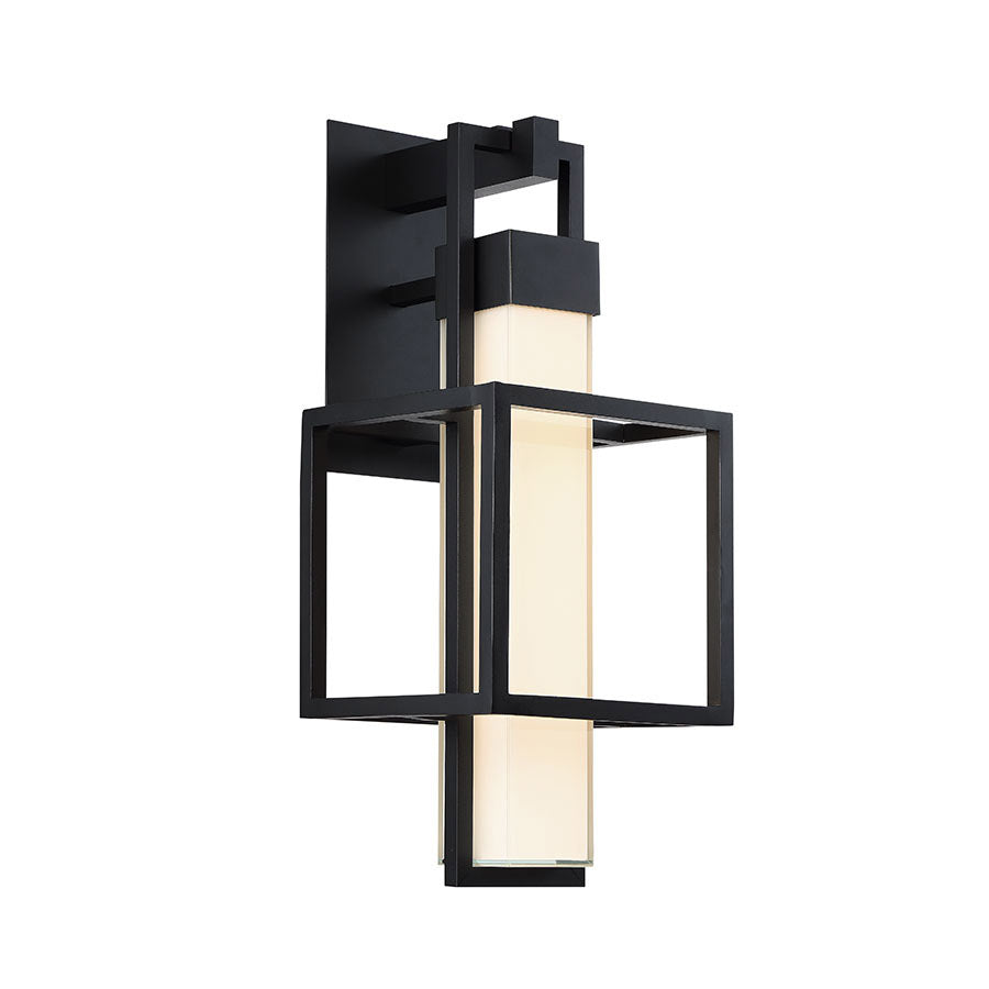 Logic 1 Light Outdoor Wall Light in Black