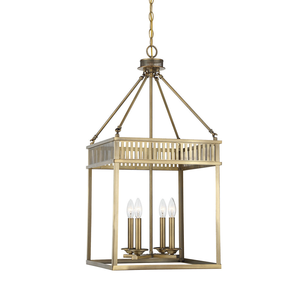 William 4-Light Foyer in Warm Brass