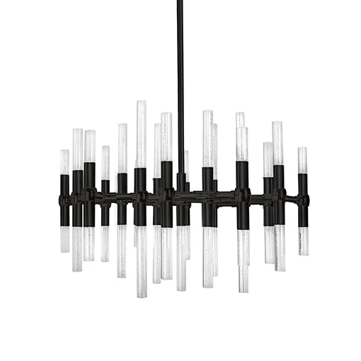 Turin Down Chandelier in Black