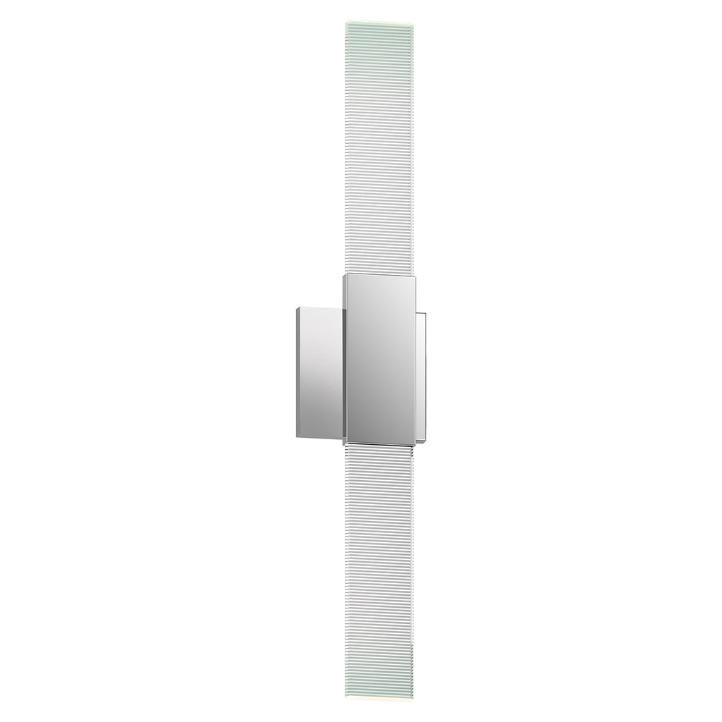 Radiant Lines LED Double Sconce in Polished Chrome