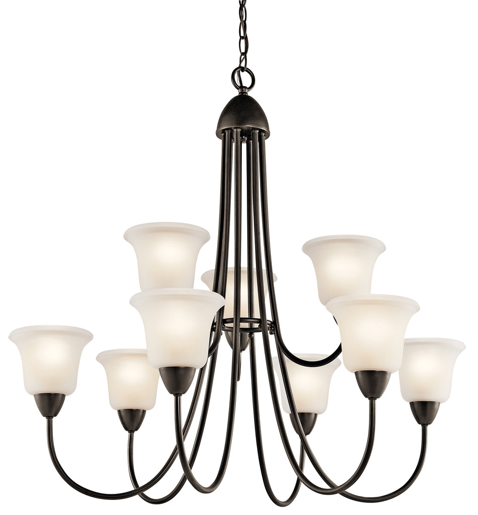 Nicholson Chandelier 9-Light in Olde Bronze