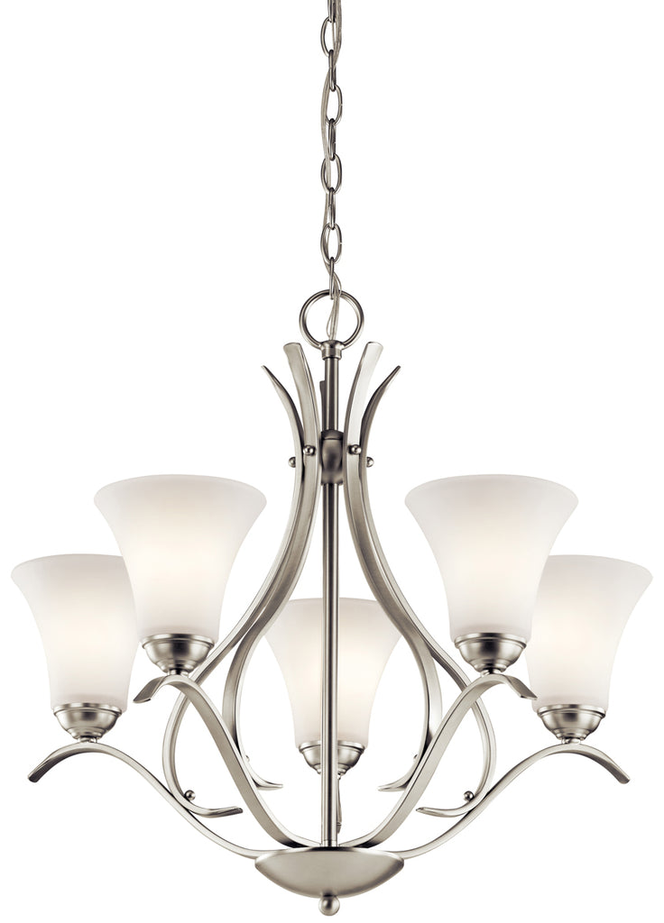Keiran Chandelier 5-Light in Brushed Nickel