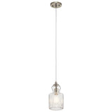 Riviera Mini Pendant 1-Light in Brushed Nickel
