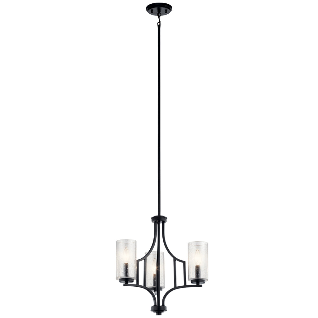 Vara Mini Chandelier 3-Light in Distressed Black