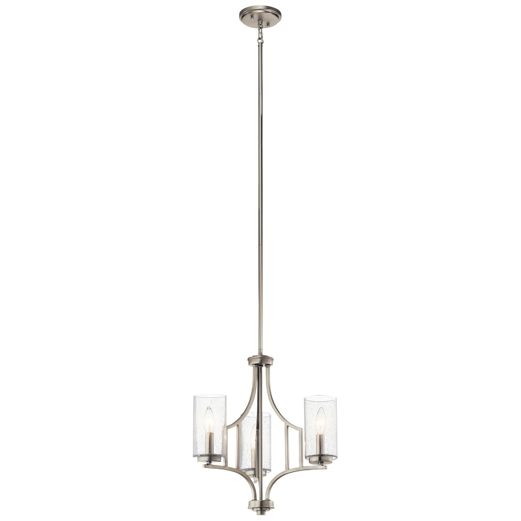 Vara Mini Chandelier 3-Light in Brushed Nickel