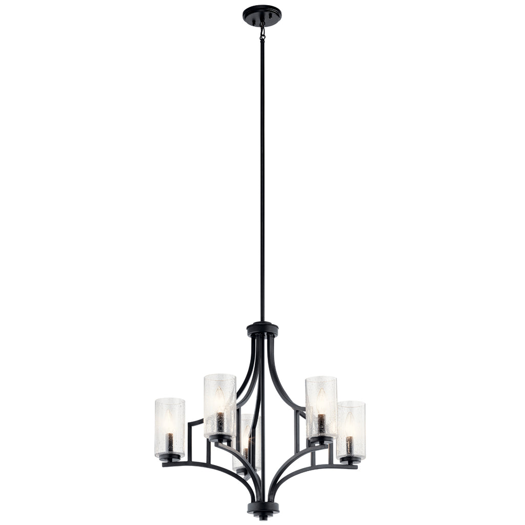 Vara Chandelier 5-Light in Distressed Black
