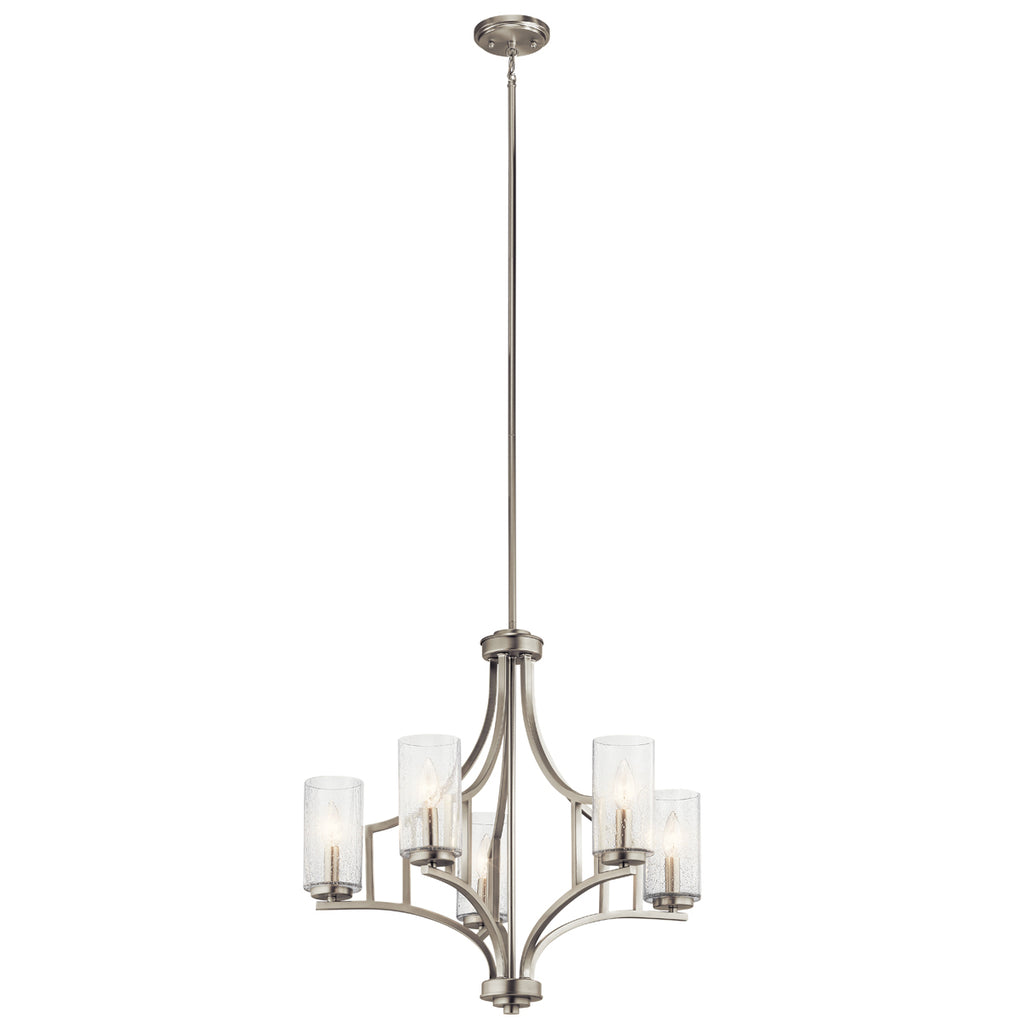 Vara Chandelier 5-Light in Brushed Nickel