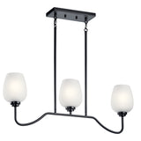 Valserrano Linear Chandelier 3-Light in Black