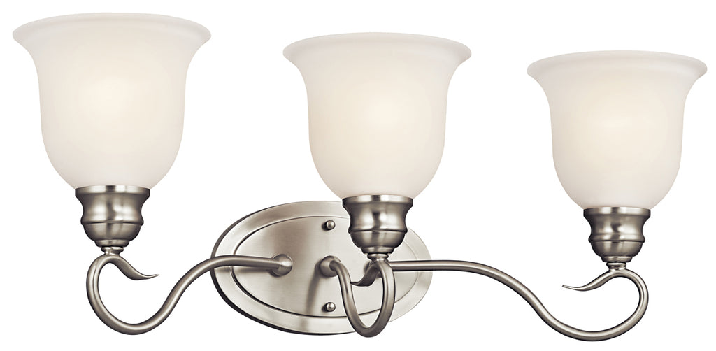 Tanglewood Bath Sconce 3-Light in Brushed Nickel