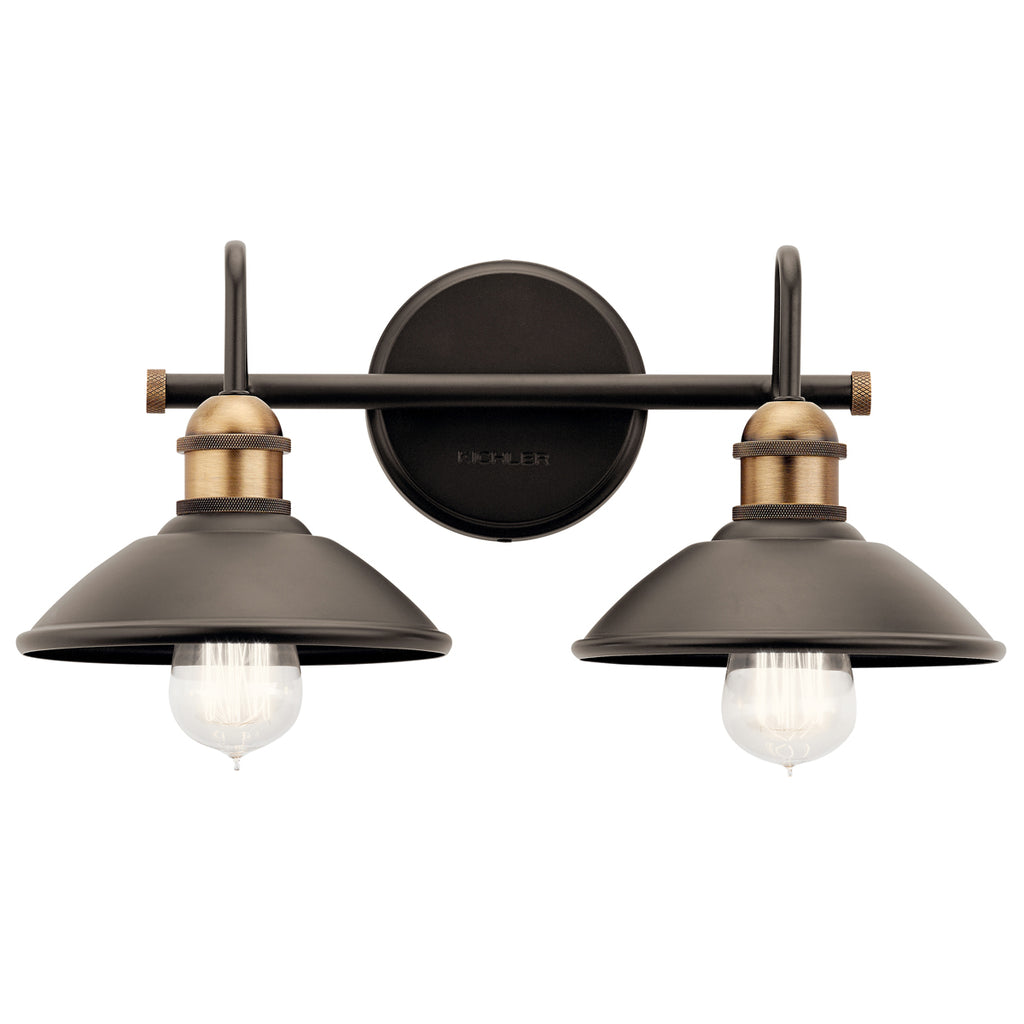 Clyde Bath Sconce 2-Light in Olde Bronze